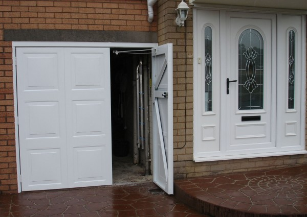 Side hinged garage doors manchester side hinged garage for Garage side entry door