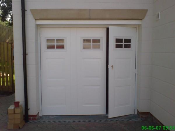 Side hinged garage doors manchester side hinged garage for Side by side garage doors