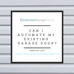 Can I Automate My Existing Garage Door?